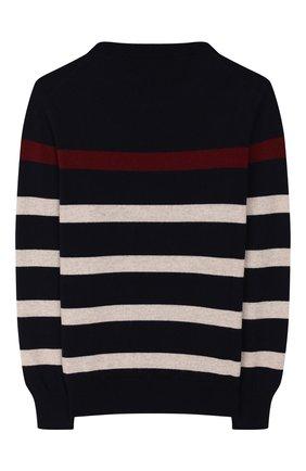Детский кашемировый пуловер BRUNELLO CUCINELLI разноцветного цвета, арт. B2215200A   Фото 2