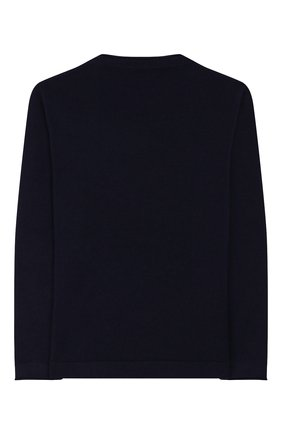 Детский кашемировый пуловер BRUNELLO CUCINELLI темно-синего цвета, арт. B2211930B | Фото 2