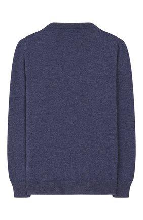 Детский кашемировый пуловер BRUNELLO CUCINELLI голубого цвета, арт. B2200100B | Фото 2