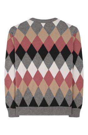 Детский пуловер из шерсти и кашемира BRUNELLO CUCINELLI разноцветного цвета, арт. B16181520A | Фото 2