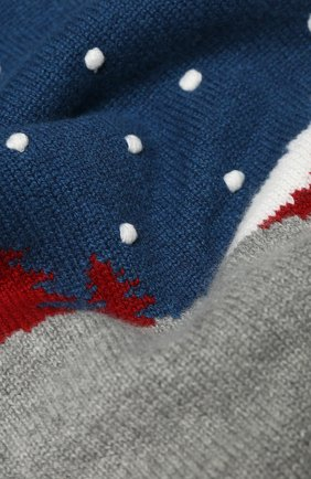 Детский кашемировый шарф LORO PIANA серого цвета, арт. FAL0620 | Фото 2