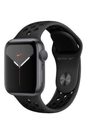 Мужские смарт-часы apple watch nike series 5 gps 40mm space gray aluminium case with anthracite/black nike sport band APPLE space gray цвета, арт. MX3T2RU/A | Фото 1