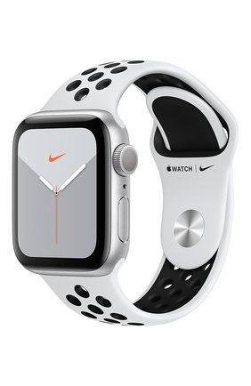 Мужские смарт-часы apple watch nike series 5 gps 40mm silver aluminium case with anthracite/black nike sport band APPLE silver цвета, арт. MX3R2RU/A | Фото 1
