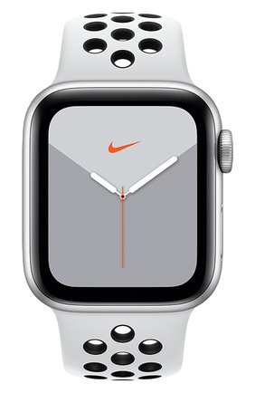 Мужские смарт-часы apple watch nike series 5 gps 40mm silver aluminium case with anthracite/black nike sport band APPLE silver цвета, арт. MX3R2RU/A | Фото 2