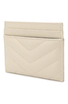 Женский кожаный футляр для кредитных карт SAINT LAURENT белого цвета, арт. 423291/B0W02 | Фото 2