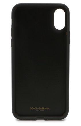 Мужской кожаный чехол для iphone x/xs DOLCE & GABBANA темно-зеленого цвета, арт. BI2408/AU770 | Фото 2