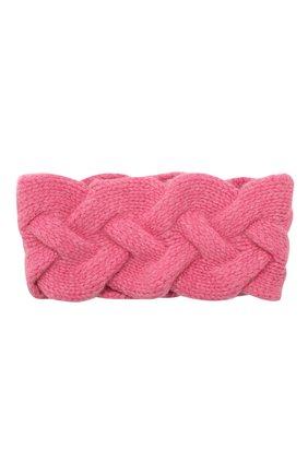 Женская кашемировая повязка на голову NOT SHY розового цвета, арт. 3504042C | Фото 1