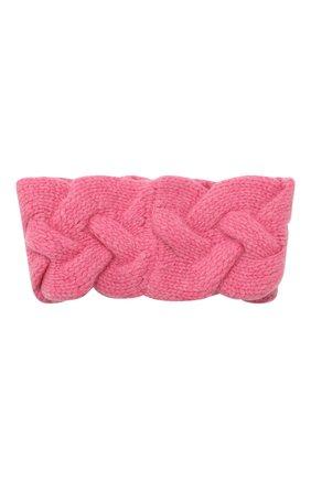 Женская кашемировая повязка на голову NOT SHY розового цвета, арт. 3504042C | Фото 2