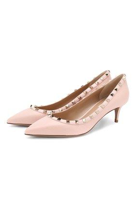 Женская кожаные туфли valentino garavani rockstud VALENTINO розового цвета, арт. TW2S0V22/VCE | Фото 1
