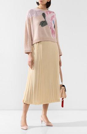 Женская кожаные туфли valentino garavani rockstud VALENTINO розового цвета, арт. TW2S0V22/VCE | Фото 2
