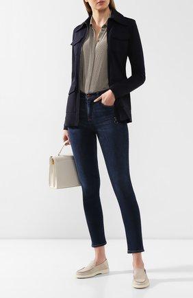 Женские кожаные лоферы SANTONI бежевого цвета, арт. WUYA58673TISCBPHI50 | Фото 2