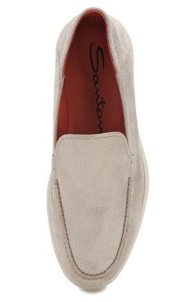 Женские кожаные лоферы SANTONI бежевого цвета, арт. WUYA58673TISCBPHI50 | Фото 5