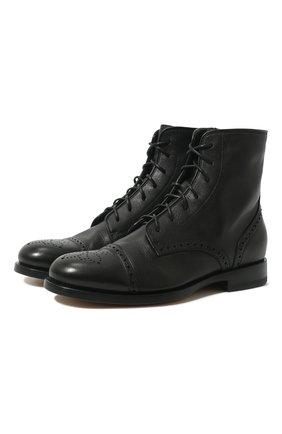 Женские кожаные ботинки SANTONI черного цвета, арт. WTKM58476BA3SDDKN01 | Фото 1