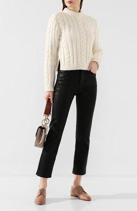 Женские кожаные дерби SANTONI бежевого цвета, арт. WUSM56701BI3SLGAP20 | Фото 2
