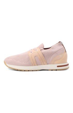 Женские текстильные кроссовки 360 lp walk LORO PIANA розового цвета, арт. FAL0096 | Фото 2