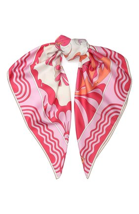 Женский шелковый платок EMILIO PUCCI розового цвета, арт. 0EGB42/0EM42 | Фото 1