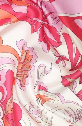 Женский шелковый платок EMILIO PUCCI розового цвета, арт. 0EGB42/0EM42 | Фото 2