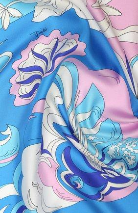 Женский шелковый платок EMILIO PUCCI оранжевого цвета, арт. 0EGB42/0EM42 | Фото 2