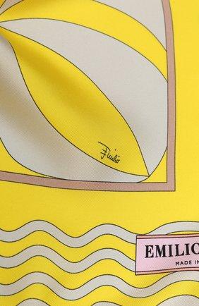 Женский шелковый платок EMILIO PUCCI желтого цвета, арт. 0EGB42/0EM42 | Фото 2