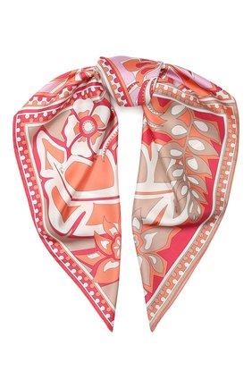 Женский шелковый платок EMILIO PUCCI розового цвета, арт. 0EGB52/0ES52 | Фото 1