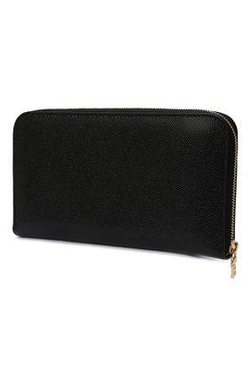 Женские кожаный кошелек BURBERRY черного цвета, арт. 8023297   Фото 2