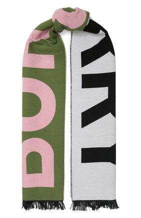 Мужские шерстяной шарф BURBERRY зеленого цвета, арт. 8023064 | Фото 1