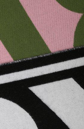 Мужские шерстяной шарф BURBERRY зеленого цвета, арт. 8023064 | Фото 2