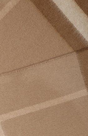 Мужские кашемировый шарф BURBERRY коричневого цвета, арт. 8022683 | Фото 2