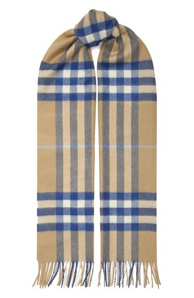 Мужские кашемировый шарф BURBERRY бежевого цвета, арт. 8022676 | Фото 1