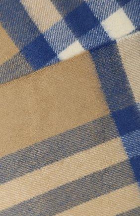 Мужские кашемировый шарф BURBERRY бежевого цвета, арт. 8022676 | Фото 2