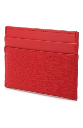 Женский кожаный футляр для кредитных карт BURBERRY красного цвета, арт. 8020721 | Фото 2