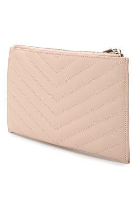 Женские кожаный футляр для документов SAINT LAURENT светло-розового цвета, арт. 504922/B0W02 | Фото 2