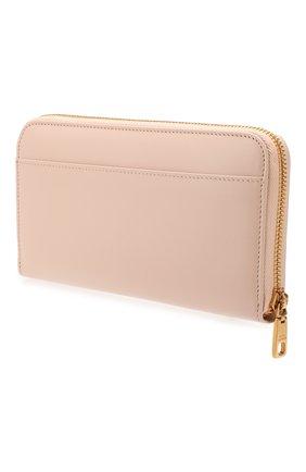 Женские кожаный кошелек DOLCE & GABBANA светло-бежевого цвета, арт. BI0473/AX121 | Фото 2