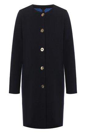 Женское шерстяное пальто ESCADA синего цвета, арт. 5032580 | Фото 1