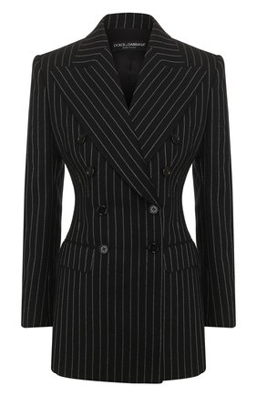 Женский шерстяной жакет DOLCE & GABBANA серого цвета, арт. F29CRT/FR2XI | Фото 1