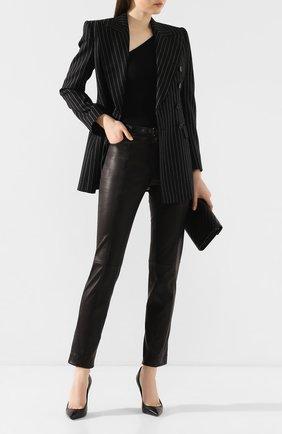 Женский шерстяной жакет DOLCE & GABBANA серого цвета, арт. F29CRT/FR2XI | Фото 2