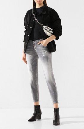 Женские джинсы DSQUARED2 серого цвета, арт. S75LB0262/S30260 | Фото 2