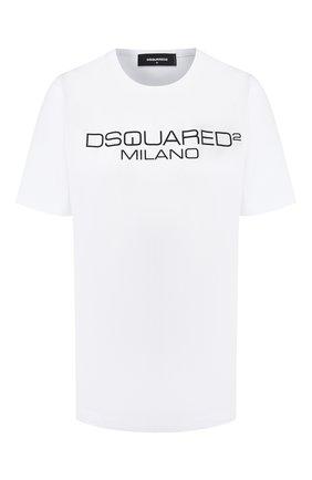 Женская хлопковая футболка DSQUARED2 белого цвета, арт. S75GD0082/S22844 | Фото 1