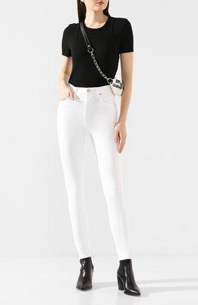 Женская хлопковая футболка HELMUT LANG черного цвета, арт. J10HW502 | Фото 2