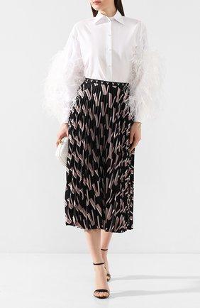 Рубашка с отделкой перьями | Фото №2