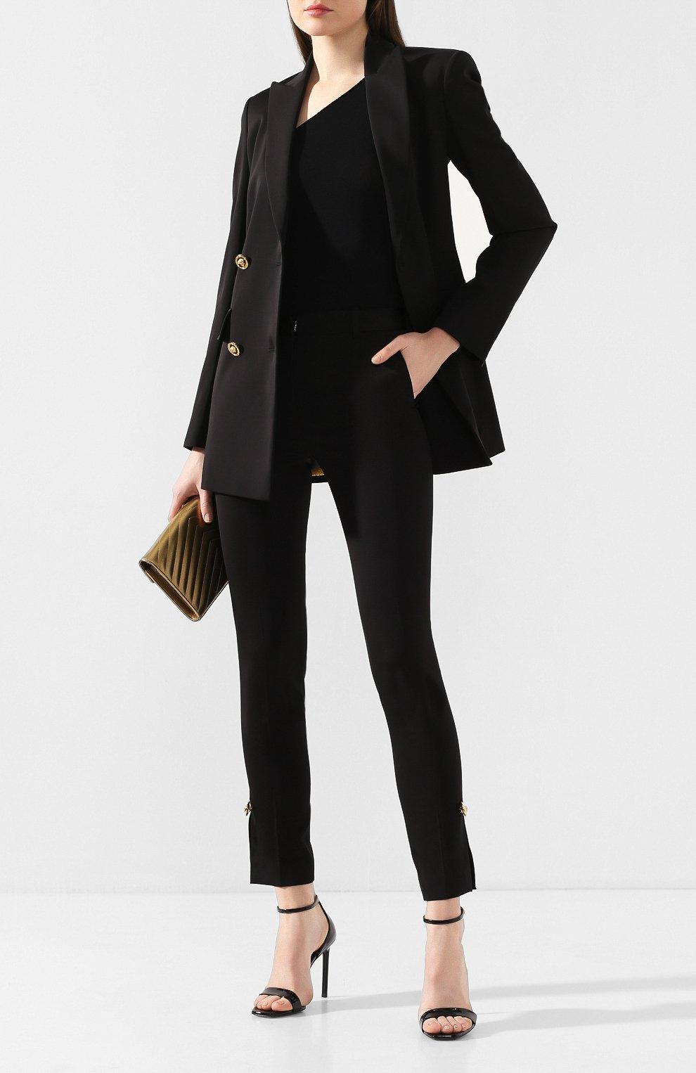 Женские брюки VERSACE черного цвета, арт. A85701/A220957 | Фото 2