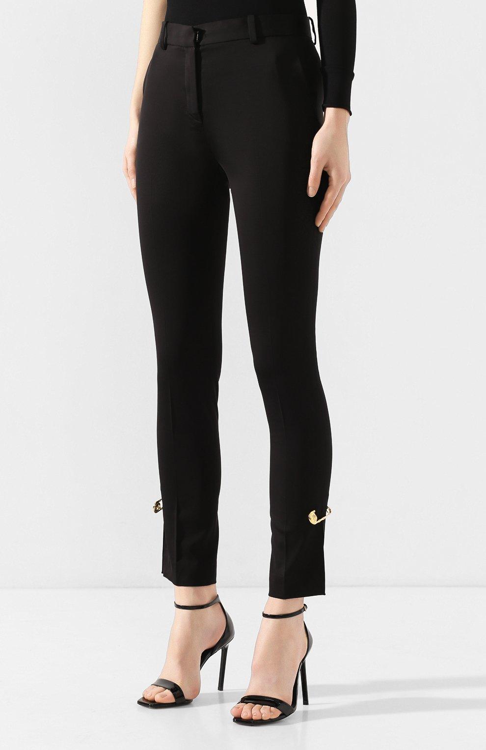 Женские брюки VERSACE черного цвета, арт. A85701/A220957 | Фото 3