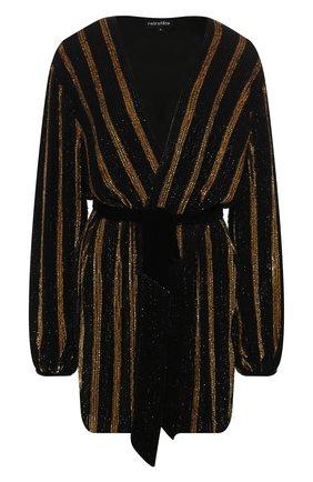 Женское платье с пайетками RETROFÊTE золотого цвета, арт. HL18-2088   Фото 1