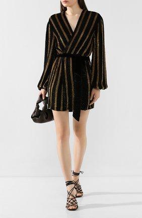 Женское платье с пайетками RETROFÊTE золотого цвета, арт. HL18-2088   Фото 2