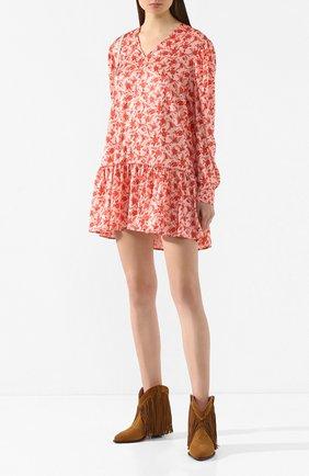 Женское платье с принтом DROME розового цвета, арт. DTDA392P/D1822P   Фото 2