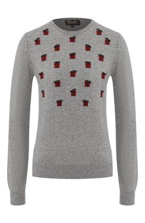 Женская кашемировый пуловер LORO PIANA серого цвета, арт. FAL0647 | Фото 1