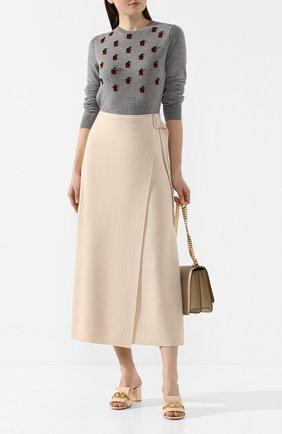 Женская кашемировый пуловер LORO PIANA серого цвета, арт. FAL0647 | Фото 2