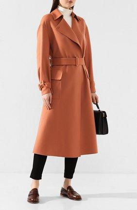Женское кашемировое пальто LORO PIANA бежевого цвета, арт. FAI9566 | Фото 2