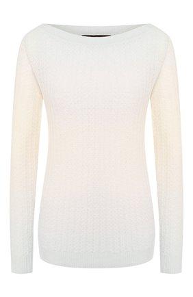 Женская пуловер из смеси кашемира и шелка LORO PIANA бежевого цвета, арт. FAI9320 | Фото 1