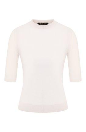 Женская кашемировый пуловер LORO PIANA белого цвета, арт. FAI8990 | Фото 1